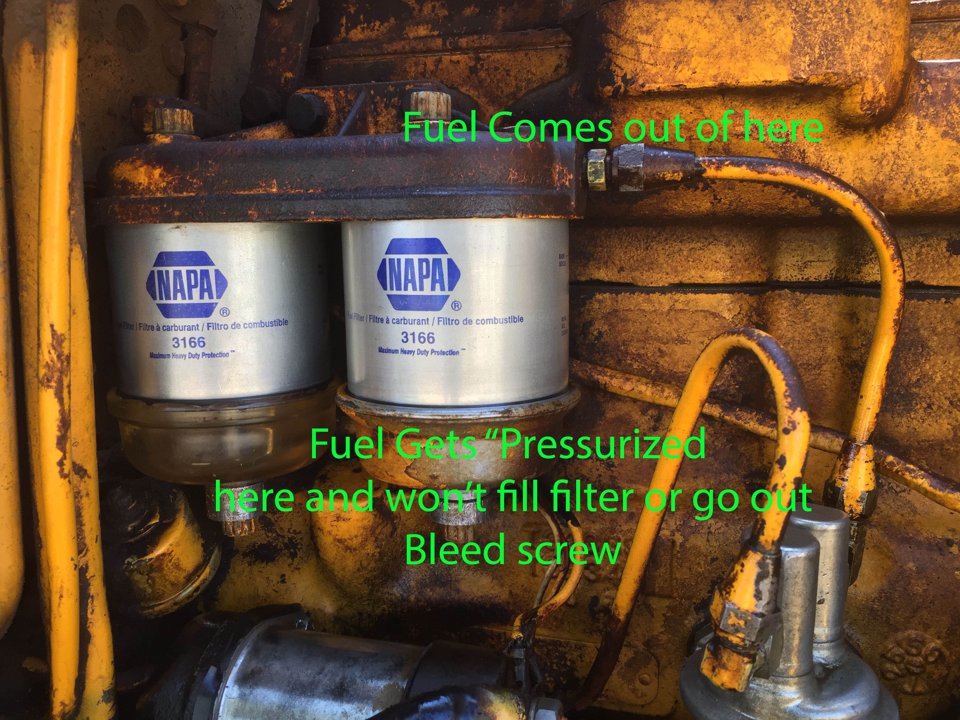 Fuel wont Bleed after Fuel Filter replacement - JDcrawlers